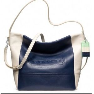 Coach Legacy Weekend Colorblock Leather Tote Bag